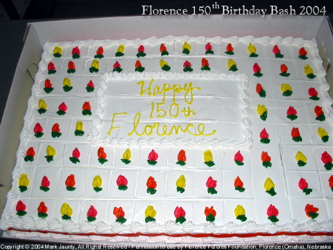 Our birthday cake!  We had a great party at the Florence Library.