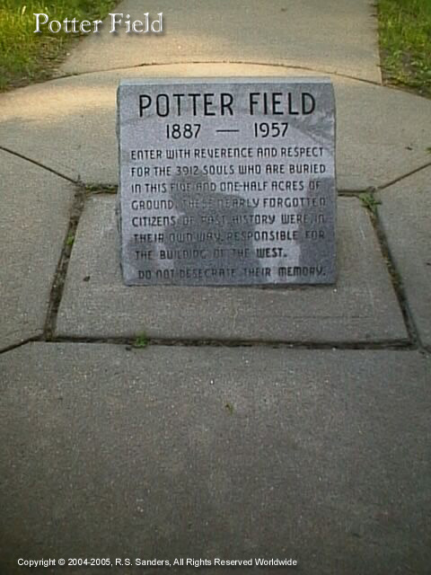 Image - Small view of Potters Field Cemetery Marker