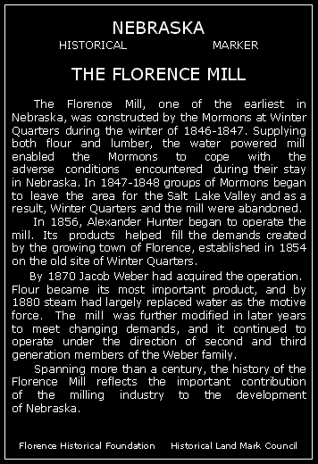 Text of the historical marker