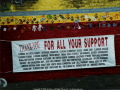 Photo of a banner that lists all of the contributing organizations and individuals.