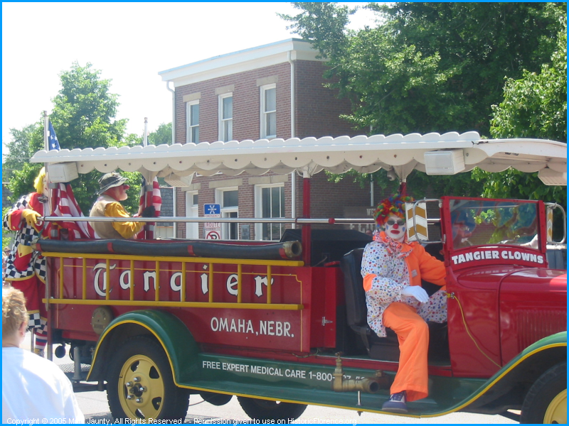The Tangier Clowns are an important part of the Florence Days parade.