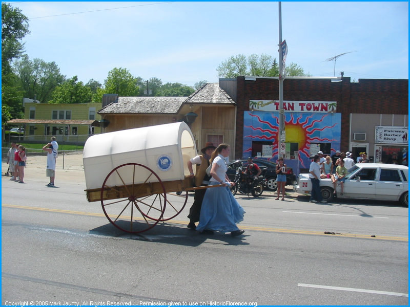 The Handcarts were an important part of the Mormon migration effort to Salt Lake City.  Florence was a significant outfitting location.  Many families left here on foot to travel to Salt Lake.