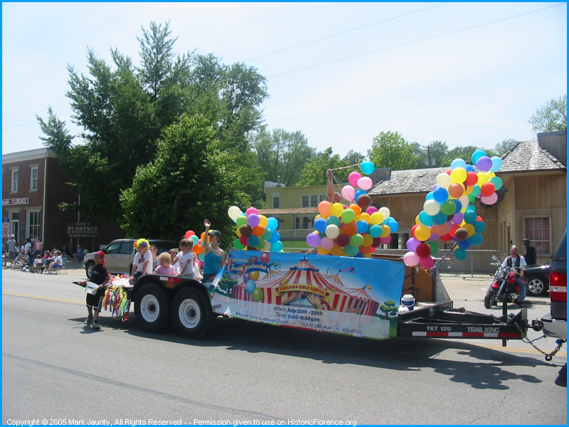 A parade should have lots of colors.  The Mt. Olive Lutheran Church (of 7301 N. 28th Ave) reminds us that Vacation Bible School is between July 25th and the 29th.  You can call 402-455-8700 to register.