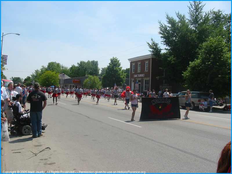 Norris Middle School Redbirds Drill Team.  This group from 2235 So. 46th St. comes out to all area parades..