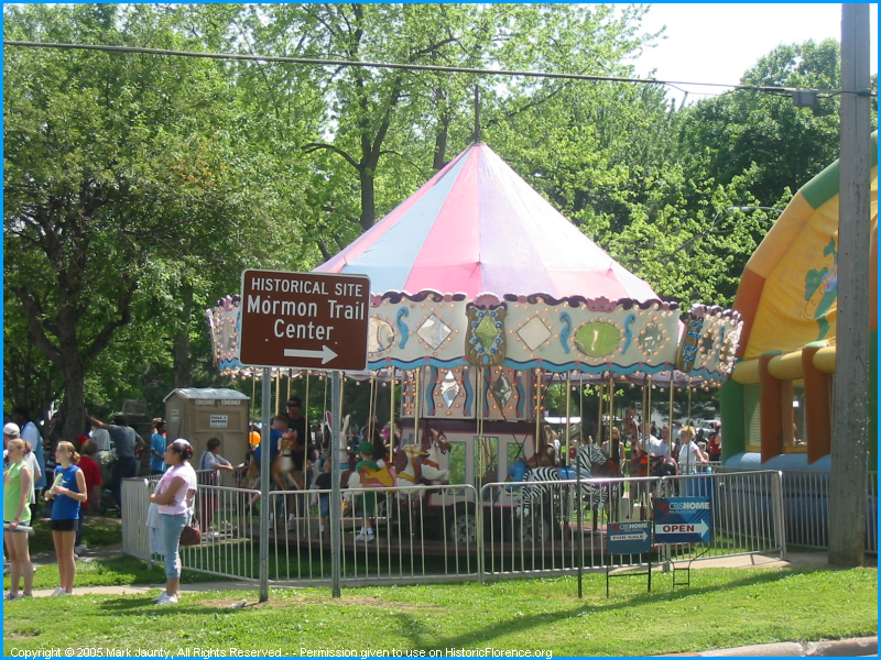 Viewing The carnival in Mormon Park during Florence Days.