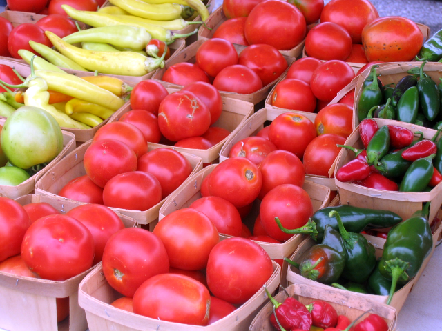 Tomatoes and More! - It is day number (19) so enjoy this Farmers Market image; tomorrow, a different image.